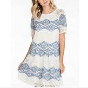 Everly Mini Pom Pom Lace Dress